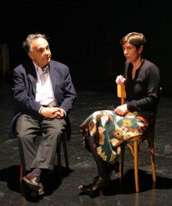 Lucien Attoun et Christine Angot, 29 novembre 2004 ©Jean-Julien Kraemer